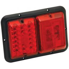 Bargman Trailer Taillight Red LED and Incandescent Red w/ Red Insert and Black Base