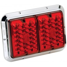 Bargman Trailer Taillight 84 LED Surface Mount Red/Red w/ Chrome Base RV