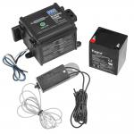 "Pro Series Push-To-Test LED Electric Trailer Breakaway System Kit Built-In Battery Charger Top Load 48"" Switch"