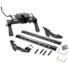 Reese Quick Install Rail Kit and 16K Dual Jaw 5th Wheel Hitch For 99-19 Silverado Sierra 1500 99-10 2500 3500 Custom Fit No Drill Base Rails For 5th Wheel and Trailer Fifth