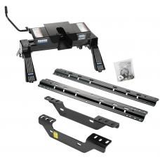 Reese Quick Install Rail Kit and 16K Dual Jaw 5th Wheel Hitch For 11-19 Chevy Silverado GMC Sierra 2500 3500 Custom Fit No Drill Base Rails For 5th Wheel and Trailer Fifth