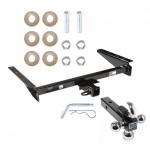 """Trailer Tow Hitch Receiver For 93-98 Jeep Grand Cherokee ZJ 93 Wagoneer w/Tri-Ball Triple Ball 1-7/8"""" 2"""" 2-5/16"""""""