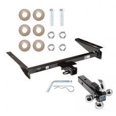 "Trailer Tow Hitch Receiver For 93-98 Jeep Grand Cherokee ZJ 93 Wagoneer w/Tri-Ball Triple Ball 1-7/8"" 2"" 2-5/16"""