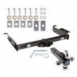 "Trailer Tow Hitch Receiver For 96-19 Chevy Express GMC Savana Van w/Tri-Ball Triple Ball 1-7/8"" 2"" 2-5/16"""