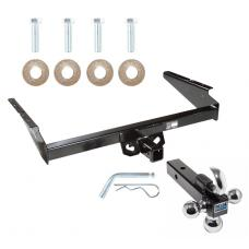 "Trailer Tow Hitch Receiver For 90-05 Chevy Astro GMC Safari w/Tri-Ball Triple Ball 1-7/8"" 2"" 2-5/16"""
