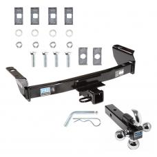 "Trailer Tow Hitch Receiver For 83-12 Ford Ranger 94-10 Mazda B Series w/Tri-Ball Triple Ball 1-7/8"" 2"" 2-5/16"""