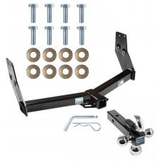 "Trailer Tow Hitch Receiver For 97-03 Infiniti QX4 96-04 Nissan Pathfinder w/Tri-Ball Triple Ball 1-7/8"" 2"" 2-5/16"""