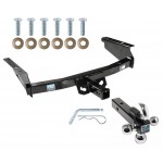 "Trailer Tow Hitch Receiver For 02-07 Jeep Liberty w/Tri-Ball Triple Ball 1-7/8"" 2"" 2-5/16"""