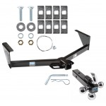"""Trailer Tow Hitch Receiver For 96-07 Dodge Grand Caravan Chrysler Town Country w/Tri-Ball Triple Ball 1-7/8"""" 2"""" 2-5/16"""""""