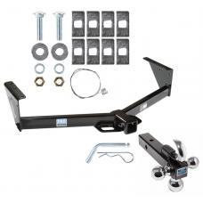 "Trailer Tow Hitch Receiver For 96-07 Dodge Grand Caravan Chrysler Town Country w/Tri-Ball Triple Ball 1-7/8"" 2"" 2-5/16"""