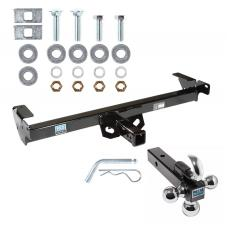 "Trailer Tow Hitch Receiver For 96-04 Chevy S10 GMC Sonoma Isuzu Hombre w/Tri-Ball Triple Ball 1-7/8"" 2"" 2-5/16"""