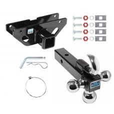 "Trailer Tow Hitch Receiver For 07-09 Chrysler Aspen 04-09 Dodge Durango w/Tri-Ball Triple Ball 1-7/8"" 2"" 2-5/16"""