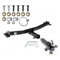 "Trailer Tow Hitch Receiver For 07-14 Toyota FJ Cruiser w/Tri-Ball Triple Ball 1-7/8"" 2"" 2-5/16"""