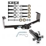 """Trailer Tow Hitch Receiver For 07-19 Toyota Tundra w/Tri-Ball Triple Ball 1-7/8"""" 2"""" 2-5/16"""""""