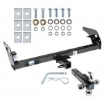 "Trailer Tow Hitch Receiver For 95-04 Toyota Tacoma w/Tri-Ball Triple Ball 1-7/8"" 2"" 2-5/16"""