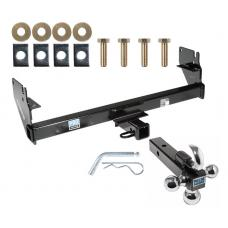 "Trailer Tow Hitch Receiver For 05-15 Toyota Tacoma w/Tri-Ball Triple Ball 1-7/8"" 2"" 2-5/16"""