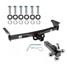 "Trailer Tow Hitch Receiver For 05-19 Nissan Frontier 09-12 Suzuki Equator w/Tri-Ball Triple Ball 1-7/8"" 2"" 2-5/16"""