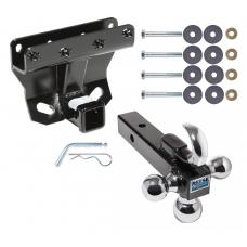 """Trailer Tow Hitch Receiver For 05-10 Jeep Grand Cherokee WK 06-10 Commander w/Tri-Ball Triple Ball 1-7/8"""" 2"""" 2-5/16"""""""
