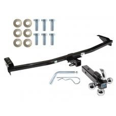 "Trailer Tow Hitch Receiver For 01-06 Acura MDX 03-08 Honda Pilot w/Tri-Ball Triple Ball 1-7/8"" 2"" 2-5/16"""