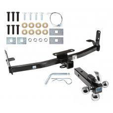 "Trailer Tow Hitch Receiver For 05-17 Chevy Equinox 10-17 GMC Terrain w/Tri-Ball Triple Ball 1-7/8"" 2"" 2-5/16"""
