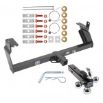 "Trailer Tow Hitch Receiver For 14-19 Jeep Cherokee w/Tri-Ball Triple Ball 1-7/8"" 2"" 2-5/16"""