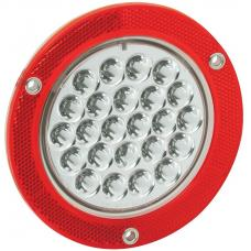 Bargman Trailer Taillight 4in Round LED Tail Lamp w/ Mounting Flange
