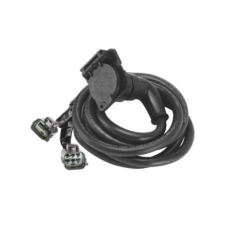 90 Degree Fifth Wheel Adapter Harness, 7-Way RV Round Tow Plug Harness Flat Pin Connector Assembly 9 ft., Ford