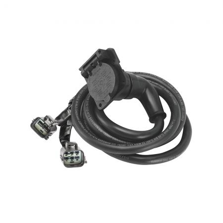 90 Degree Fifth Wheel Adapter Harness, 7-Way RV Round Tow Plug Harness Flat Pin Connector Assembly 7 ft., Ford