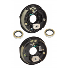 A Pair of 10 inch x 2-1/4in Electric Trailer Brakes Self Adjusting 3500 lb (1) Right and (1) Left Side For Dexter Alko Lippert Rockwell and Quality Axles 1 Year Warranty w/ Grease Seals