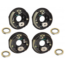 4-Pack 12 inch x 2 inch Electric Trailer Brakes Self Adjusting 5200 to 7000 lb (2) Right and (2) Left Side For Dexter Alko Lippert Rockwell and Quality Axles 1 Year Warranty w/ Grease Seals
