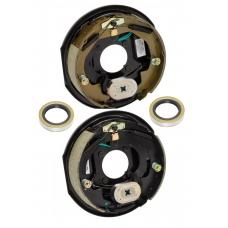 A Pair of 10 inch x 2-1/4in Electric Trailer Brakes 3500 lb (1) Right and (1) Left Side For Dexter Alko Lippert Rockwell and Quality Axles 1 Year Warranty w/ Grease Seals