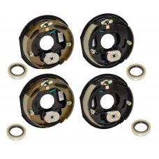 4-Pack 10 inch x 2-1/4in Electric Trailer Brakes 3500 lb (2) Right and (2) Left Side For Dexter Alko Lippert Rockwell and Quality Axles 1 Year Warranty w/ Grease Seals
