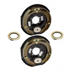 A Pair of 12 inch x 2 inch Electric Trailer Brakes 5200 to 7000 lb Pair (1) Right and (1) Left Side For Dexter Alko Lippert Rockwell and Quality Axles 1 Year Warranty w/ Grease Seals