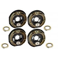 4-Pack 12 inch x 2 inch Electric Trailer Brakes 5200 to 7000 lb (2) Right and (2) Left Side For Dexter Alko Lippert Rockwell and Quality Axles 1 Year Warranty w/ Grease Seals