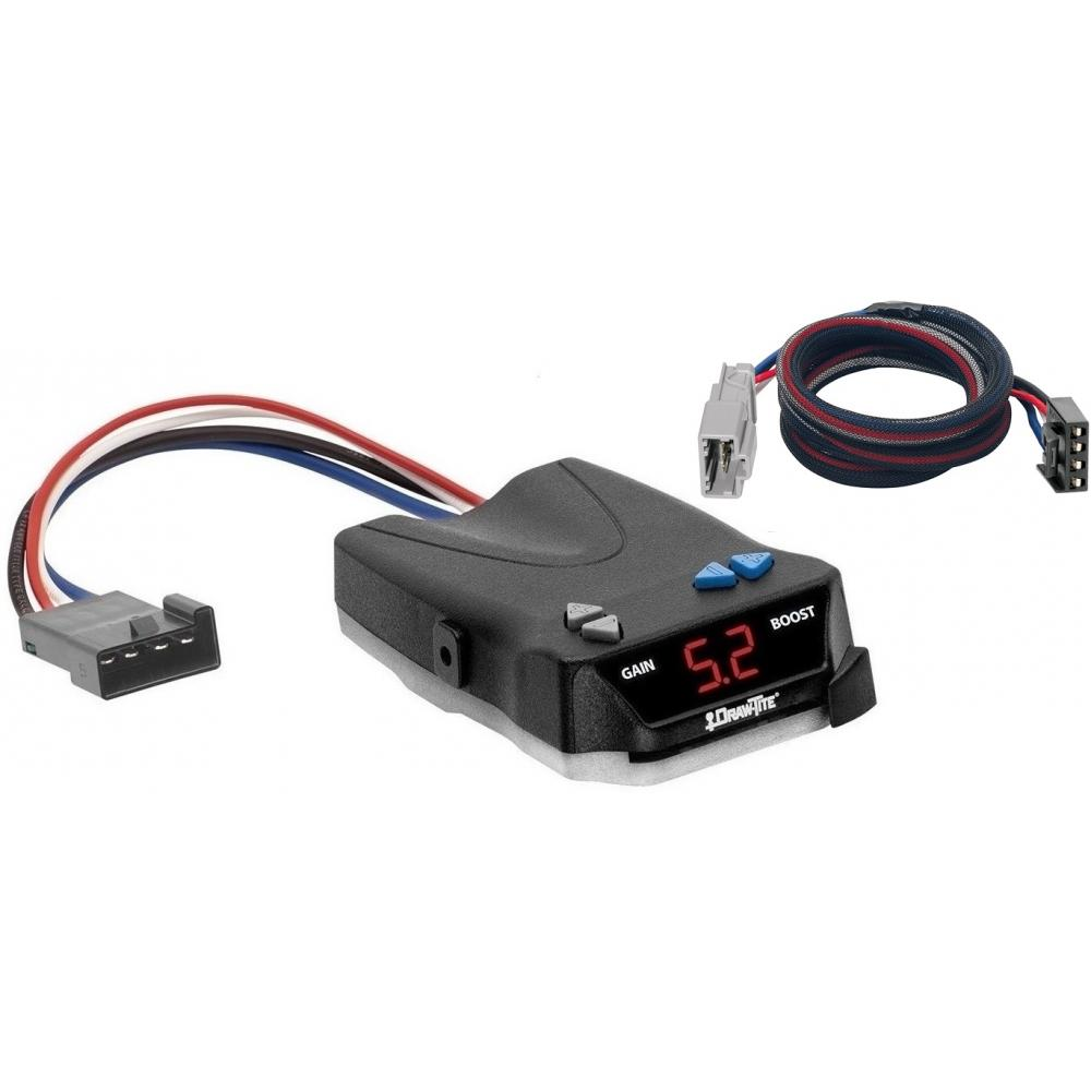 trailer brake control for 09-18 honda pilot w/ plug play wiring adapter  i-command draw-tite electric proportional trailer brakes module box  controller
