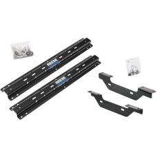 Reese Outboard Quick Install Rail Kit For 11-19 Chevy Silverado GMC Sierra 2500 3500 Custom Fit No Drill Base Rails For 5th Wheel and Gooseneck Trailer Hitch Fifth