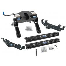 Reese Outboard Quick Install Rail Kit and 20K 5th Wheel Hitch For 99-10 Ford F250 F350 F450 Custom Fit No Drill Base Rails For 5th Wheel and Trailer Fifth