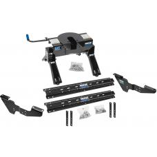 Reese Outboard Quick Install Rail Kit and 20K 5th Wheel Hitch For 99-19 Silverado Sierra 1500 99-10 2500 3500 Custom Fit No Drill Base Rails For 5th Wheel and Trailer Fifth