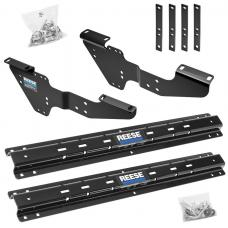 Reese Outboard Quick Install Rail Kit For 99-19 Silverado Sierra 1500 99-10 2500 3500 Custom Fit No Drill Base Rails For 5th Wheel and Gooseneck Trailer Hitch Fifth