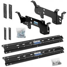 Reese Outboard Quick Install Rail Kit For 03-12 Dodge Ram 2500 3500 06-08 Ram 1500 Custom Fit No Drill Base Rails For 5th Wheel and Gooseneck Trailer Hitch Fifth