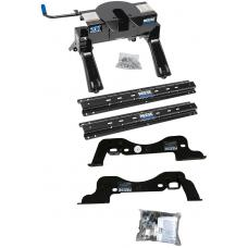 Reese Outboard Quick Install Rail Kit and 20K 5th Wheel Hitch For 17-19 Ford F250 F350 Custom Fit No Drill Base Rails For 5th Wheel and Trailer Fifth