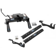 Reese Outboard Quick Install Rail Kit and 16K Dual Jaw 5th Wheel Hitch For 15-19 Ford F150 Custom Fit No Drill Base Rails For 5th Wheel and Trailer Fifth