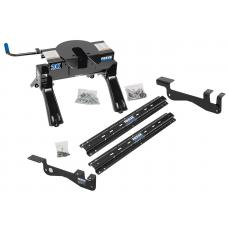 Reese Outboard Quick Install Rail Kit and 20K 5th Wheel Hitch For 15-19 Ford F150 Custom Fit No Drill Base Rails For 5th Wheel and Trailer Fifth