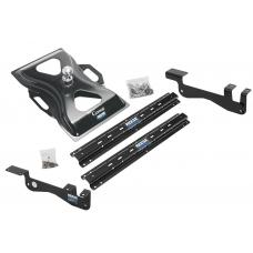Reese Outboard Quick Install Rail Kit and 25K Gooseneck Hitch For 15-19 Ford F150 Custom Fit No Drill Base Rails For Gooseneck Trailer