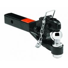 "Draw-Tite 12,000 Lbs 2"" Receiver Mount 12K Pintle Hook w/ 1-7/8"" Trailer Tow Hitch Ball Heavy Duty"