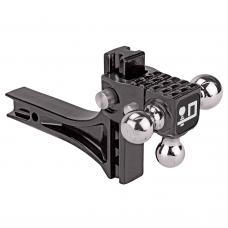 "Adjustable Tri Ball Triple 1-7/8"", 2"", & 2-5/16"" Tow Balls Ball Mount Draw-Bar System w/Step 2"" Sq. Shank"