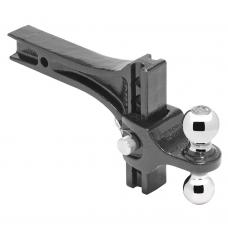 "Adjustable Dual Ball Mount Draw-Bar System 2"" Sq. Shank 2"" Tow Ball 10000 lbs 2-5/16"" Ball 14000 lbs"