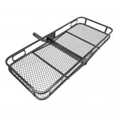 "Rambler 24""x60"" Cargo Carrier Basket Rack Fits 2"" Trailer Tow Hitch Receiver 500 lbs Capacity Storage Luggage Car Box Shelf"