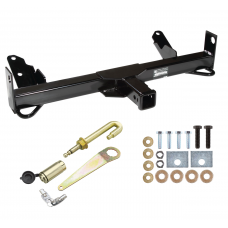 Front Mount Trailer Tow Hitch For 94-02 Dodge Ram 1500 2500 3500 w/ J-Pin Anti-Rattle Lock