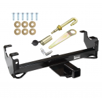 Front Mount Trailer Tow Hitch For 93-98 Jeep Grand Cherokee ZJ Grand Wagoneer w/ J-Pin Anti-Rattle Lock